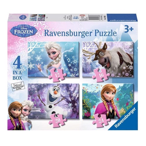 Image of   Ravensburger Disney Frozen puslespil-Frozen, 4 in 1