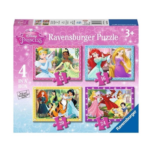 Image of   Ravensburger Disney Princess puslespil, 4 in 1