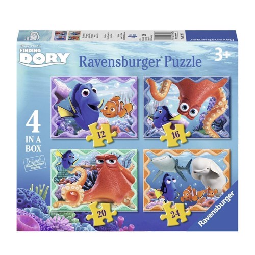 Image of   Ravensburger Finding Dory puslespil, 4 in 1