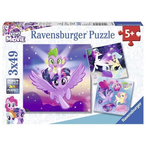 Image of Ravensburger puslespil 3x49T adventure with the ponies