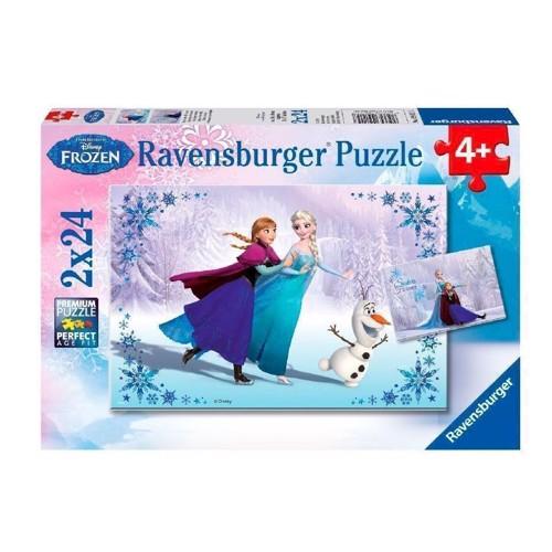 Image of Ravensburger puslespil Disney Frozen puslespil: Sisters forever, 2x24st.
