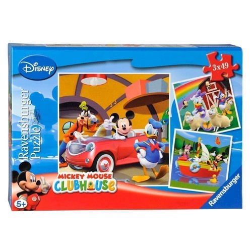 Image of Ravensburger puslespil Mickey Mouse, 3x49st.