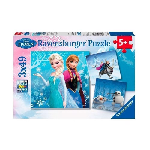 Image of   Ravensburger puslespil Disney Frozen puslespil: adventure in Winterland, 3x49st.