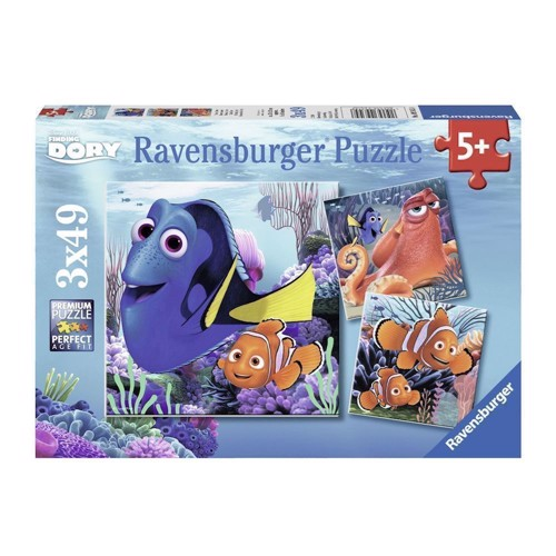 Image of   Ravensburger puslespil Finding Dory-find Dory, 3x49st.