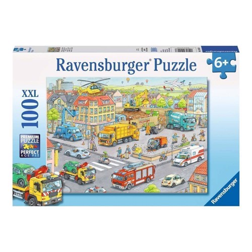 Image of Ravensburger puslespil Vehicles in the city, 100pcs. XXL