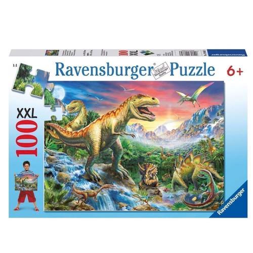 Image of Ravensburger puslespil At the dinosaurs, 100pcs. XXL