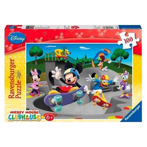 Image of Ravensburger puslespil Mickeys merry Skate Club, 100pcs. XXL