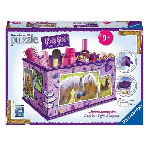 Image of   Ravensburger Girly Girl 3D puslespil horses-storage box