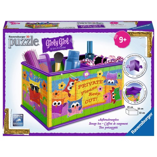 Image of   Ravensburger Girly Girl 3D puslespil Funky Owls-storage box