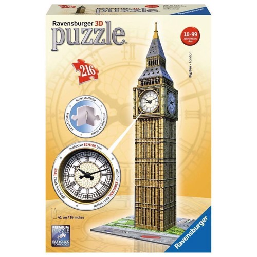 Image of   Ravensburger 3D Puzzle Big Ben with Clock