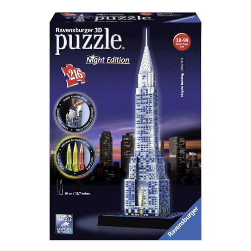 Image of Ravensburger 3D puzzle-Chrysler building Night Edition (4005556125951)