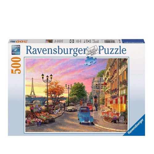 Image of Ravensburger puslespil Evening atmosphere in Paris, 500st.