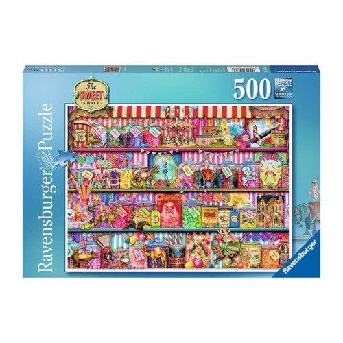 Image of Ravensburger puslespil As, The Sweet Shop, 500st. (4005556146536)