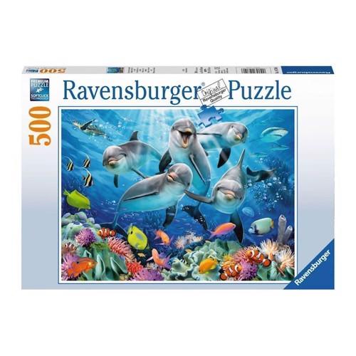 Image of Ravensburger puslespil Delfiner, 500st.