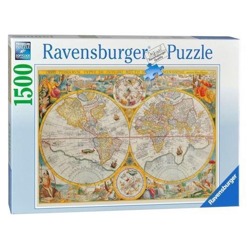 Image of Ravensburger puslespil Historical map, 1500st.