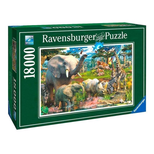 Image of   Ravensburger At the watering hole, 18,000th.