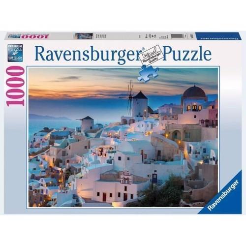 Image of   Ravensburger, Puslespil, 1000 br. Aften Over Santorini