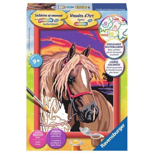 Image of Ravensburger Painting by number - Dream Horse (4005556280612)