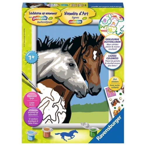 Image of Ravensburger Painting by numbers-horse friendship (4005556286294)