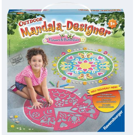 Image of Ravensburger Mandala udendørs designer blomster og sommerfugle (4005556297634)