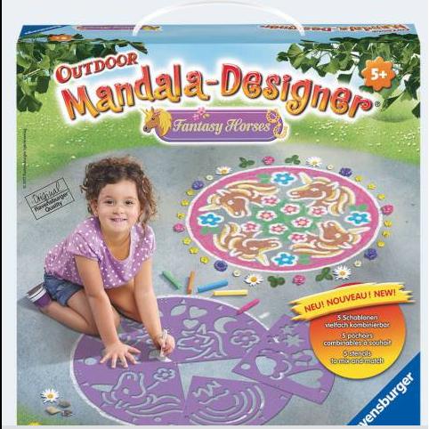 Image of Ravensburger Mandala udendørs designer fantasi heste (4005556298150)
