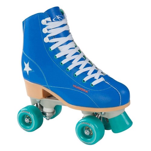 Image of Hudora Disco Rulleskøjter Skates Blue / Mint Green, Size 37