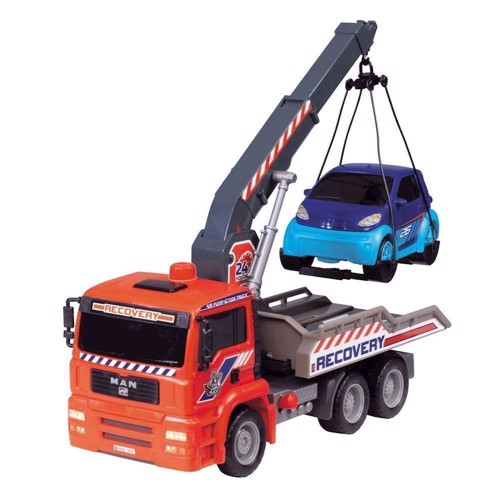 Image of   Man lastbil med bilkran
