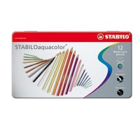 Stabilo Aquacolor metal box, 12pcs.