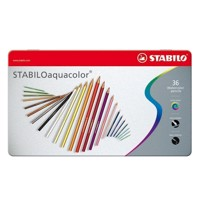 Stabilo Aquacolor metal box, 36pcs