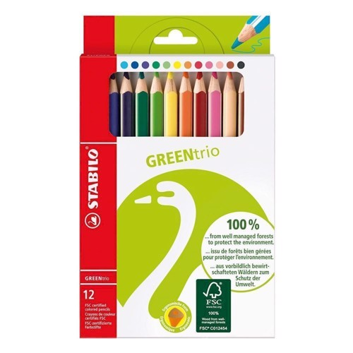 Image of Stabilo Green Box-12 colors (4006381401029)