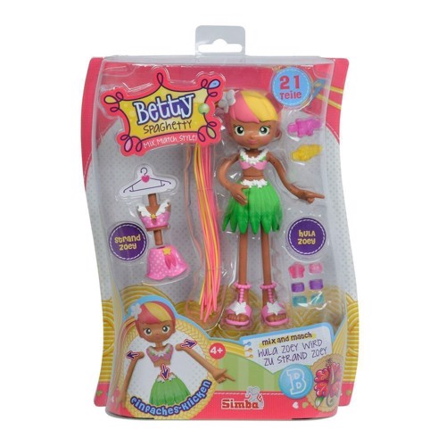 Image of   Betty spaghetti figur, prinsesse Betty