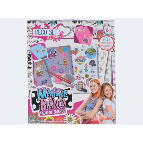 Image of   Maggie & Bianca, dekorationssæt med klistermærker og glimmer billeder