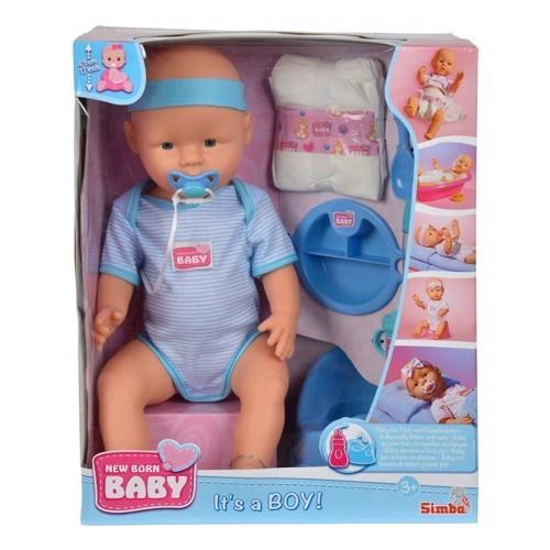 Image of New Born Baby, Drenge Dukke Med Tilbehør