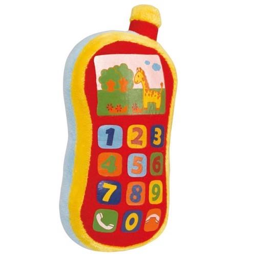 Image of   ABC legetøj telefon i plys med lyd