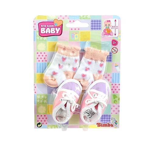 Dukketøj, New Born Baby, strømper og sko til dukke