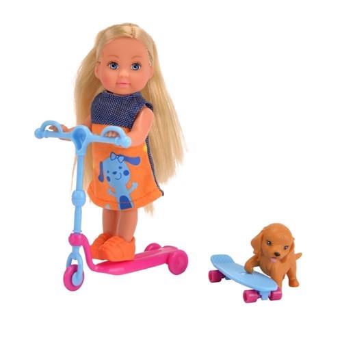 Image of   EVI Love, dukke med løbehjul og tilbehør