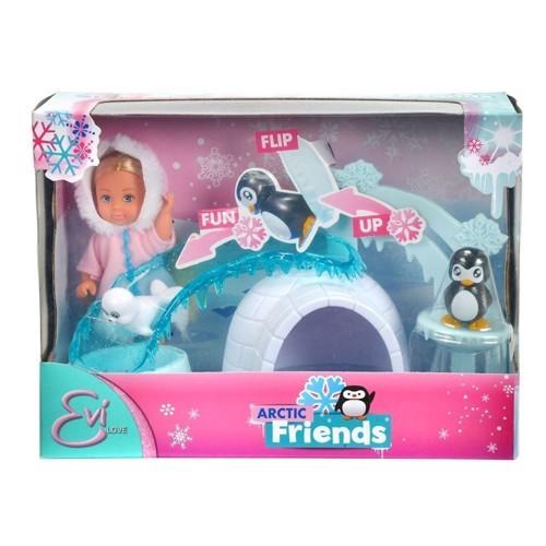 Image of   Evi Love, dukke med venner i sneen