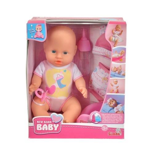 Image of Mini New Born Baby, lille dukke med tilbehør