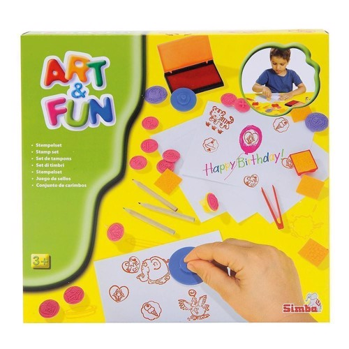 Image of Art &Fun stempelsæt med 37 dele (4006592654092)