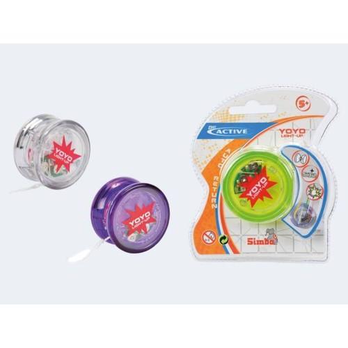 Image of   Be Active Yo-Yo 7cm med lys og ekstra snor