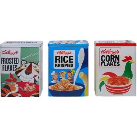 Image of   Legemad, Kellogs Cornflakes, Ricecrispies og frostet Flakes