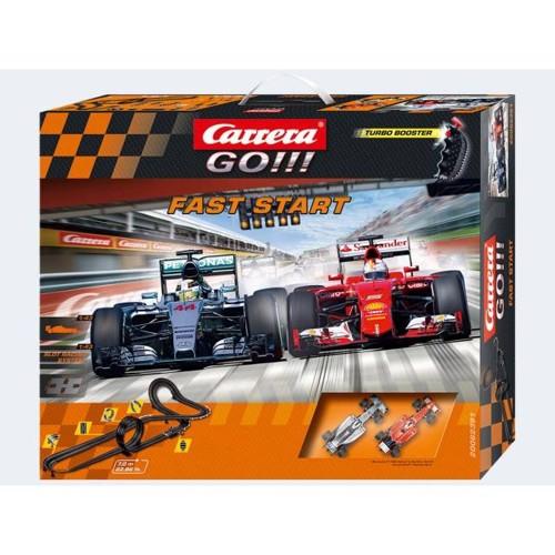 Image of   Carrera GO track Faststart 7m racerbane, med 2 biler og loop