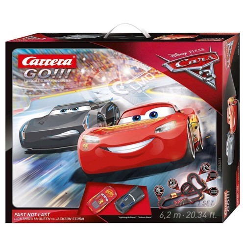 Image of   Carrera GO racerbane 6,2 m, Cars 3 Fast Not Load, med 2 biler og loop