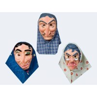 Mask witch m headscarf f adult
