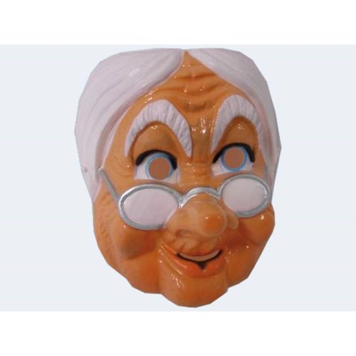 Image of   Mask of old woman m glasses f adult