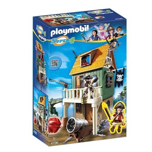 Image of Playmobil 4796 Super 4 Hemmeligt Piratfort (4008789047960)