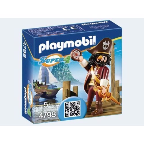 Image of Playmobil 4798 Super 4 pirat (4008789047984)