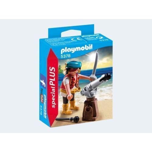 Image of   5378 Playmobil pirat med skibskanon