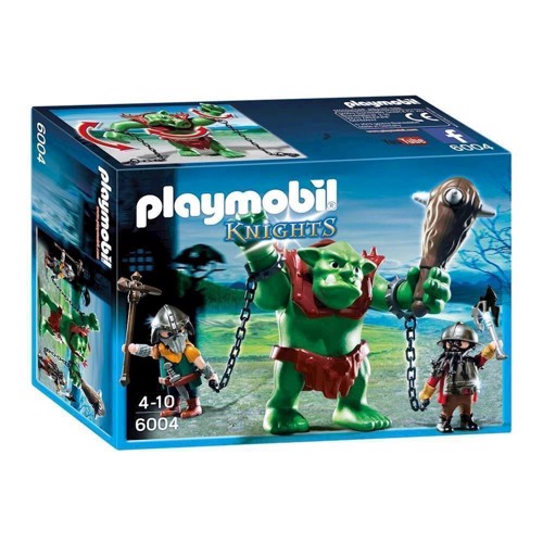 Image of Playmobil 6004 Giant Troll with Dwarf Soldiers (4008789060044)