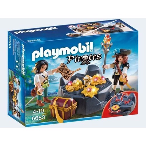 Image of Playmobil 6683 Pirat skjulested med skat (4008789066831)